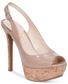 509dbe8f826b Jessica Simpson Tacey Peep-Toe Slingback Platform Pumps   Reviews - Pumps -  Shoes - Macy s