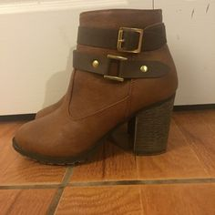 DOLLHOUSE Ankle boots Brown and tan ankle boots - worn a few times but in great condition. Make me an offer! I'm also willing to trade  Dollhouse Shoes Ankle Boots & Booties