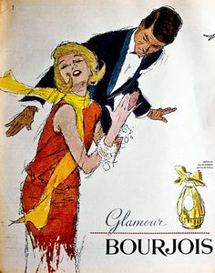 Publicité du parfum Glamour de Bourjois