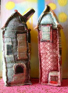 little fabric houses.