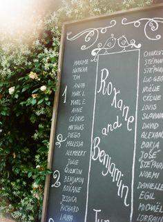 chalkboard seating chart // photo by Cinzia Bruschini