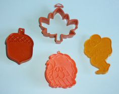 Vintage Hallmark Autumn Leaf Football Cookie Cutters by AnEclecticEccentrica