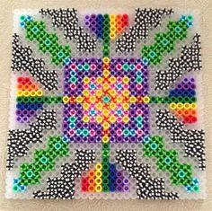 Perler design with striped beads by John H. -Perler® | Gallery