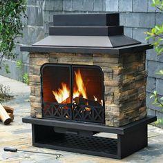 21 ideas small patio fireplace outdoor fire for 2019 Natural Gas Outdoor Fireplace, Outdoor Wood Burning Fireplace, Outdoor Fireplace Patio, Outside Fireplace, Patio Gazebo, Pergola Plans, Backyard Patio, Pergola Ideas, Cheap Pergola