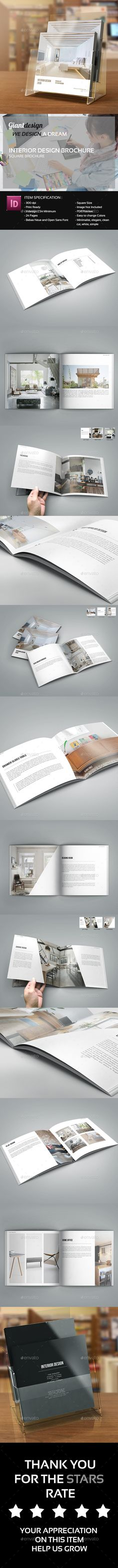 Interior Design  Square Brochure Catalog — InDesign INDD #hotel #fashion • Available here → https://graphicriver.net/item/interior-design-square-brochure-catalog/13686993?ref=pxcr