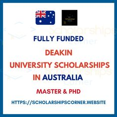 Fully Funded - Deakin University Scholarships in Australia 2020-21  Degree Level: Masters and Doctoral (PhD) Programs offered by Deakin university  For more info, visit: a/  #StudyinAustralia #scholarshipscorner #studyabroad #hghereducation #scholarship #masters #programs #fullyfunded Masters Programs, Study Abroad, Training Programs, University, Australia, Workout Programs, Colleges, Community College