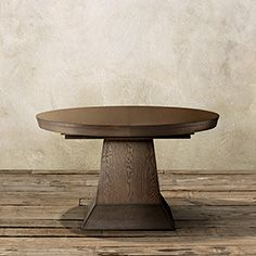 """Leighton 54"""" Round Dining Table In Burnished Brown"""