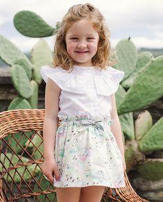 Falda estampado pájaros | Corazón de león KIDS moda infantil