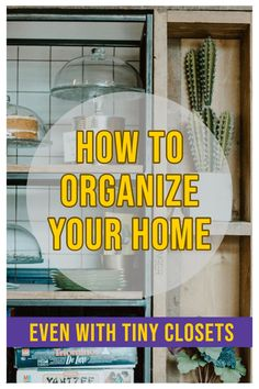 Learn how to organize your home, EVEN if you have small closets and limited storage space! These ideas will help your home stay clutter free, organized, and looking great! Office Organization Tips, School Supplies Organization, Organizing Paperwork, Small Closet Organization, Organizing Your Home, Bathroom Organization, Organizing Toys, Classroom Organization, Organization Ideas
