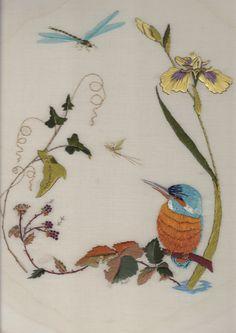 Hand embroidery - Helen M Stevens design.
