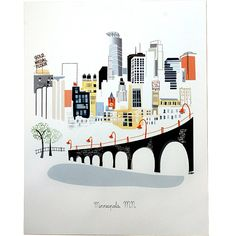 Love this artwork of Minneapolis, this artist also has prints from different areas around the world.