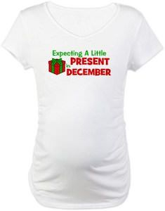Expecting Baby Present In December Maternity T-Shirt