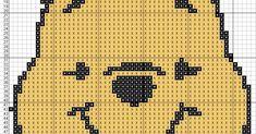 Winnie The Pooh - Cross Stitch Punto de cruz 10 x 11.7Centímetros 55 x 64 Puntos 3 Colores DMC