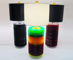 lamps from old records