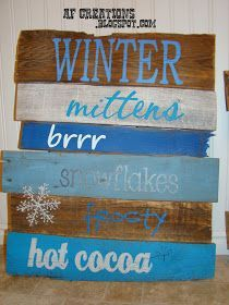 Pallets Old These were so much fun to make! I literally tore apart a super old pallet and made these signs out of it. I think I'm in lo. Pallet Crates, Old Pallets, Pallet Signs, Pallet Painting, Pallet Art, Pallet Projects, Pallet Wood, Diy Projects, Painting Tips