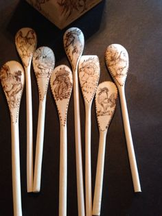 Rooster spoon set by BettysCollectables on Etsy