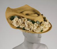 Hat  Made in Paris, France  1908  Caroline Reboux, French,   Straw  Head Diameter: 22 13/16 inches (58 cm)