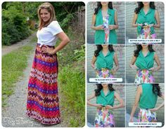 2 for 1. Turn your maxi dress into a skirt!