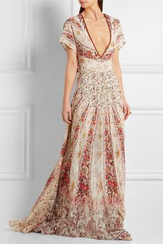 Shop on-sale Etro Printed silk-chiffon gown . Browse other discount designer Dresses & more on The Most Fashionable Fashion Outlet, THE OUTNET. Designer Evening Gowns, Designer Dresses, Flare Dress, Dress Up, Chiffon Gown, Discount Designer Clothes, Colourful Outfits, Dresses For Sale, Floral