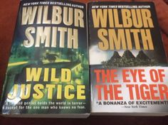 Wilbur Smith Lot of 2 The Eye Of The Tiger  Wild Justice St Martin's Paperbacks
