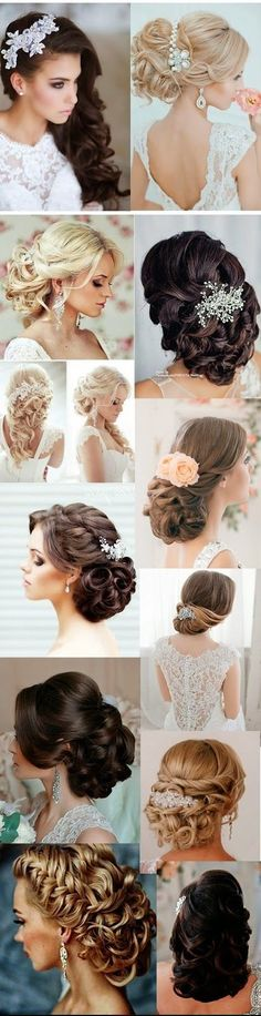 Tendance Coupe & Coiffure Femme Description 5 Glamorous Wedding Updos for 2015 www. Hairdo Wedding, Wedding Hair And Makeup, Bridal Hair, Hair Makeup, Bride Hairstyles, Pretty Hairstyles, Hairstyle Ideas, Bridesmaid Hair, Prom Hair
