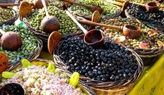 Olives for sale in t
