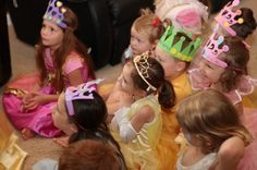 Our Fairy Tale Package includes each princess to decorate their own tiaras! #Princess Parties #Disney Princess #Birthday Parties #Princess  www.premierprincessparties.com
