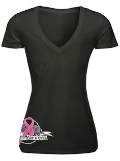 """Women's """"Ride For A Cure"""" Tee by Lethal Angel (Black)"""