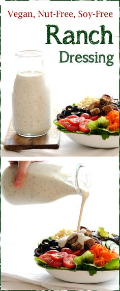 Soy-Free and Nut-Free Vegan Ranch Salad Dressing