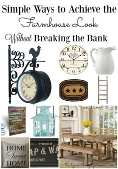 Simple Ways to Achieve the Farmhouse Look Without Breaking the Bank! - ThirtySomethingSuperMom #ad