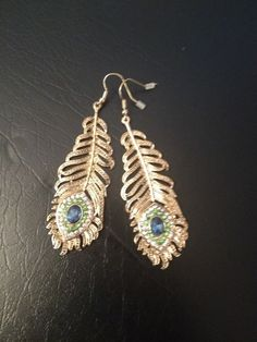 Peacock Earrings - Brand New #DropDangle