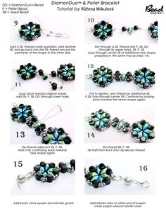 DiamondDuo and Pellet Bead Bracelet - FREE Tutorial. Page 2 of 2
