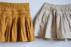 Mustard star skirt by Compagnie M