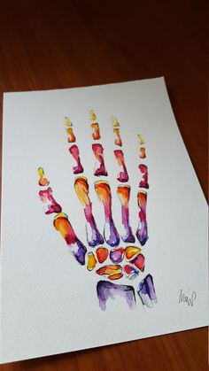 Watercolour Anatomy Art Extra Large Hand OR Foot