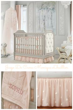 Beautiful Nursery Quilt Bedding Set, includes: Quilt, Crib Fitted Sheet & Crib Skirt | Girls nursery | Kids decor | Baby | Cuarto de bebés | #ad