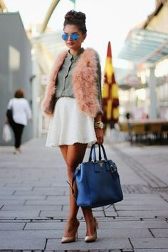 759da27224c0 Discover this look wearing Blue Prada Bags tagged prada - a warm autumn day  by fashionhippie styled for Chic