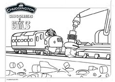 Check out our free printable colour scene featuring Brewster! #Chuggington #coloring