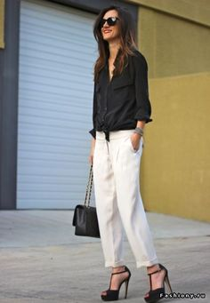 Черная рубашка в женском гардеробе / рубашка женская topshop