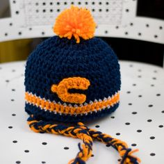Chicago Bears Baby Cap 3 - 9 months/ 3 - 10 years. $14.95, via Etsy.