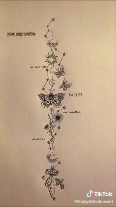 @helenelawaetz Spine Tattoos, Dope Tattoos, Dream Tattoos, Future Tattoos, Body Art Tattoos, Tattoo Drawings, Tribal Hand Tattoos, Tattoo Sketches, Tatoos