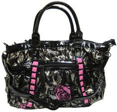 IRON FIST Muerte Punk Princess Handbag (Charcoal/Pink) Iron Fist,http://www.amazon.com/dp/B0072IWXDK/ref=cm_sw_r_pi_dp_7ArOsb13ZSCK7YD9