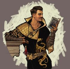 weemiji:Leyendecker-style Dorian here to sell you some Tevinter Collar shirts.Blatantly based of this, I also literally c/ped the plinth and slapped it on there because I was too sick of working on this piece to paint it.