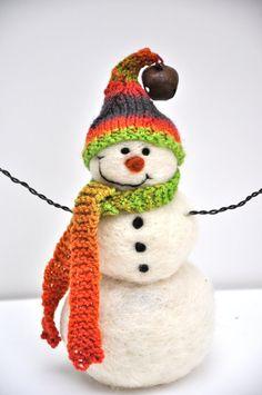 Wool snowman!  : )