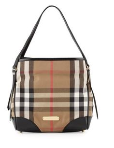 5f67093a8e3e BURBERRY  CHECK CANVAS SHOULDER BAG Rent this designer handbag at  www.ArmGem.com!