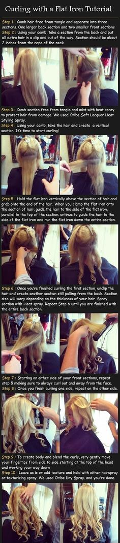 Curling with a Flat Iron Tutorial