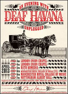Deaf Havana unplugged sold out tour poster