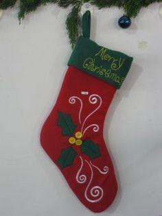 Chaussettes de cadeaux ( bord inférieur rouge vert)
