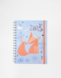 Paperchase A5 Week To View Dreamscape Fox 2015 Diary