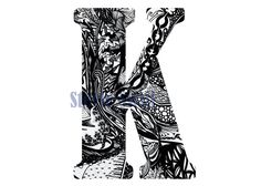 Abstract Letter K Printable Digital by StevieDoodles on Etsy Coloring Letters, Letter K, Printables, Abstract, Trending Outfits, Digital, Unique Jewelry, Handmade Gifts, Illustration