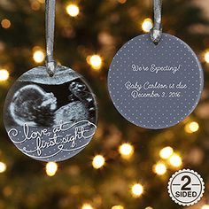 Personalize your Christmas tree with this decorative Baby Sonogram Photo Personalized Christmas Ornament - 2-Sided. Find the best personalized Christmas ornaments at PersonalizationMall.com